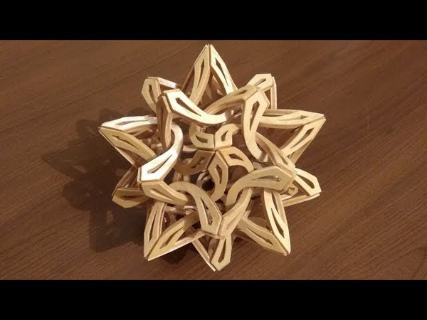 Scroll saw project Solar Flair wooden geometric sculpture Free pattern