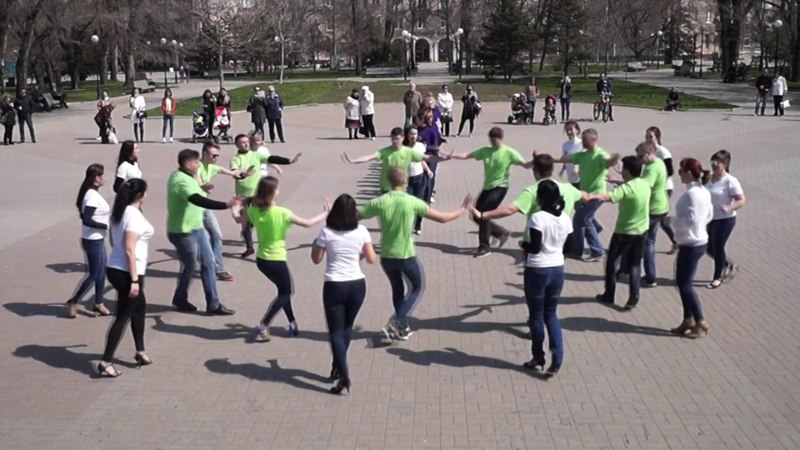 Бердянск.Сальса клуб Corazon.INTERNATIONAL RUEDA DE CASINO MULTI FLASH MOB DAY.Berdyansk 2018