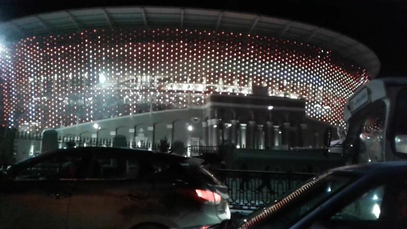 Екатеринбургский стадион, едем с работы домой.