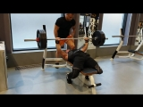 140 кг и 145 кг Тренировка от 04.08.18г Gold's Gym Moscow Dinamo