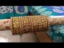Красный зеленый и золотой каменные браслеты с жемчуг