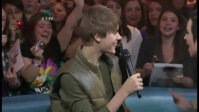 Justin Bieber on Much Music Feb. 1, 2011 (part 1)