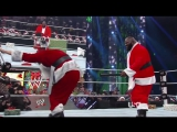 WWE Monday Night Raw 23th December 2013 - The Battle for Christmas - Nice Santa vs Bad Santa