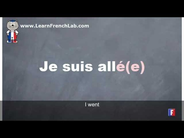 Learn French Conjugation = Aller (to go) = Perfect tense