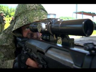 Занятия по тактико-специальной и огневой подготовке со снайперами ЗВО