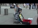 Ivan Hajek playing accordion at Marienplatz Munich (May 2012)