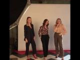 L.A. Times Entertainment on Instagram - latimes_entertainment - Baro Toronto Power posing with @ maikamonroe, @ isabelle.huppert