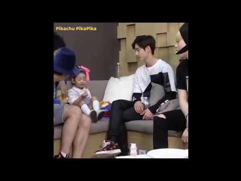 Mark Tuan with kids