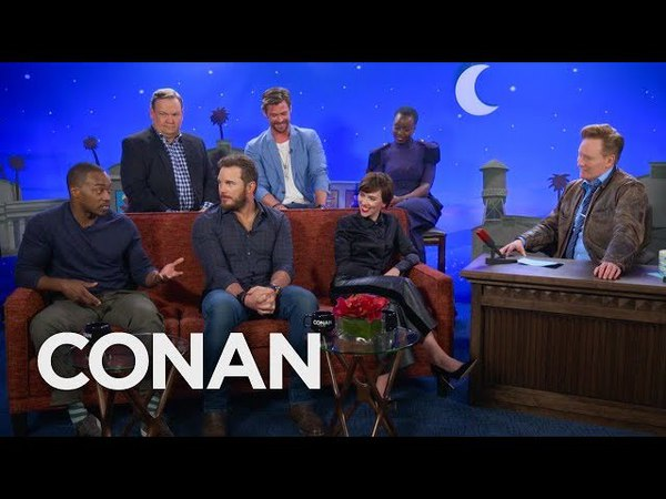 """The Men Of Avengers: Infinity War"""" Compare Themselves To Different Meats - CONAN on TBS"""