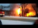 Пожар в Рязани на улице Есенина