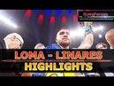 Ломаченко Линарес Лучшие моменты Loma Linares Highlights 1080p