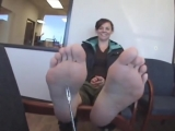 29 Year old woman candid Feet