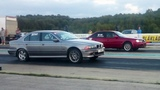 Audi S4 Quattro 2.2t 20v vs BMW 540i E39 4.4TT 2xHX35 14 mile drag race