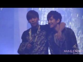 120413 jonghyun fancam from music bank encore stage