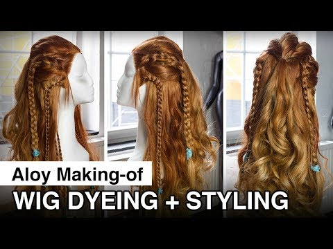 Aloy Cosplay Making of - Wig dyeing styling