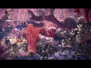 Коралловое нагорье и новые монстры в геймплее Monster Hunter: World .