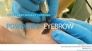 Permanent makeup tutorial: powdered eyebrows / Уроки татуажа - пудровые брови