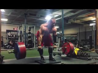 Дэн Грин, тяга 365 кг на 3 раза