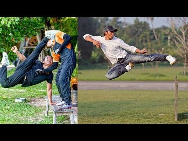 Tony Jaa r Amazing Flips★Skills★training Funny Moments 2017-2018