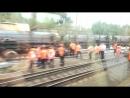 На железной дороге опрокинулись цистерны