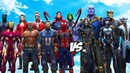 AVENGERS GUARDIANS OF THE GALAXY VS THANOS BLACK ORDER - INFINITY BATTLE