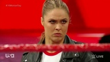 Ronda Rousey Interrupts The Match and Puts Mickie James In an Armbar Raw, 23 April 2018