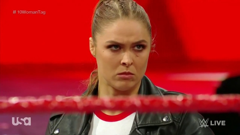 Ronda Rousey Interrupts The Match and Puts Mickie James In an Armbar : Raw, 23 April 2018