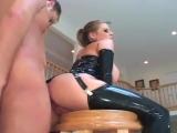 Busty milf fucking in latex stockings and a corset latex porn girl fetish латекс порно фетиш