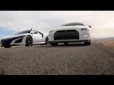 2017 Acura NSX vs 2016 Nissan GTR R35 drag race