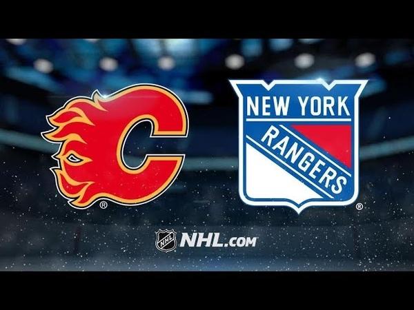 Calgary Flames vs New York Rangers - Oct.21, 2018