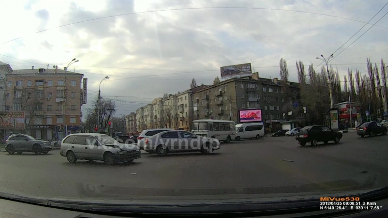 Момент ДТП 25.04.2018 Воронеж