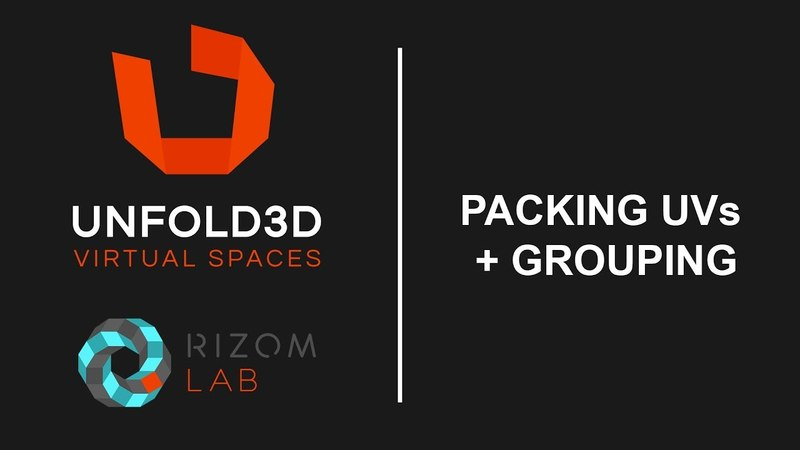 Unfold 3D 10 VS Tutorial - Packing UVs and Grouping