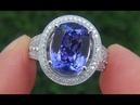 Certified Jewelry FLAWLESS Natural Tanzanite Diamond 14k White Gold Ring A141678