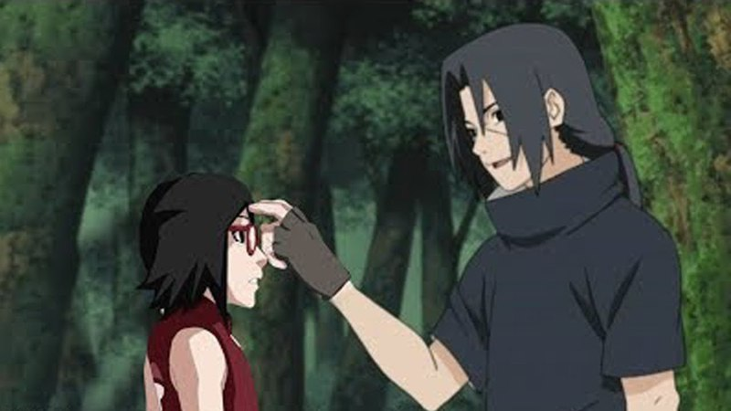 Sasuke let Sarada see her uncle Itachi for the first time