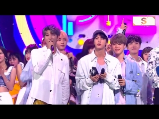 [AWARDS] 180902 BTS win 1 place with IDOL (2nd Win) @SBS Inkigayo