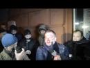 Киев 21 февраля 2014 Журналистам показывают избитого беркутовца