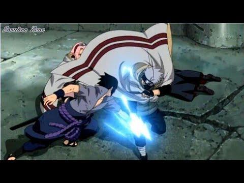 Наруто Сакура и Какаши против Саске Полный бой