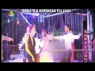 Halit Ergenc Berguzar Korel IS DANCING !!!!.... Dogas wedding 3.9.2014