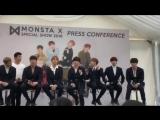 VK02.03.2018MONSTA X Press Conference HSBC Music Festival 2018 @ In KPop