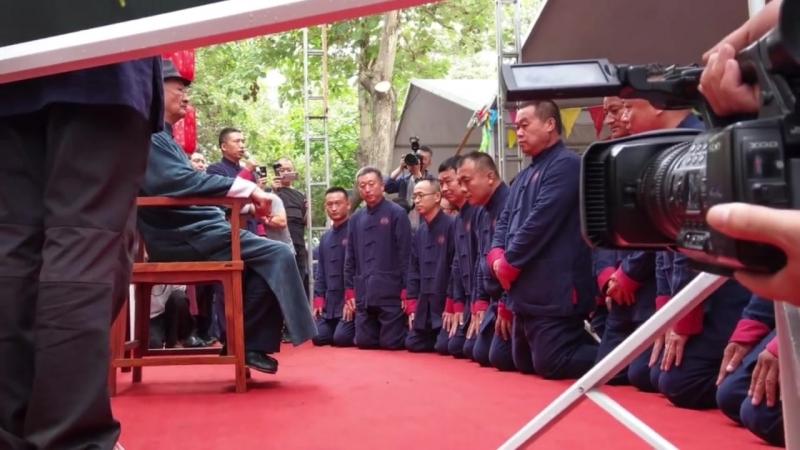 Церемония посвящения в традиционной школе ушу ицюань