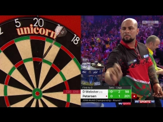 Darren Webster vs Devon Petersen (PDC World Darts Championship 2018 / Round 1)