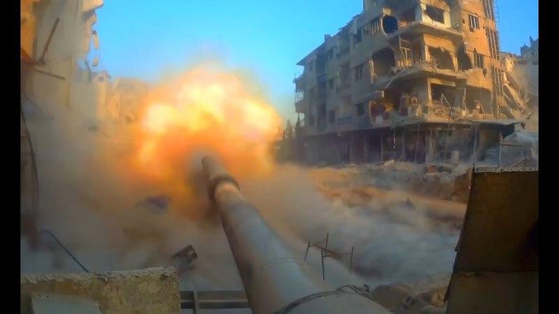 Кадры штурма крепости ИГИЛ: «Змей Горыныч», танки и бронебульдозеры САА хоронят боевиков