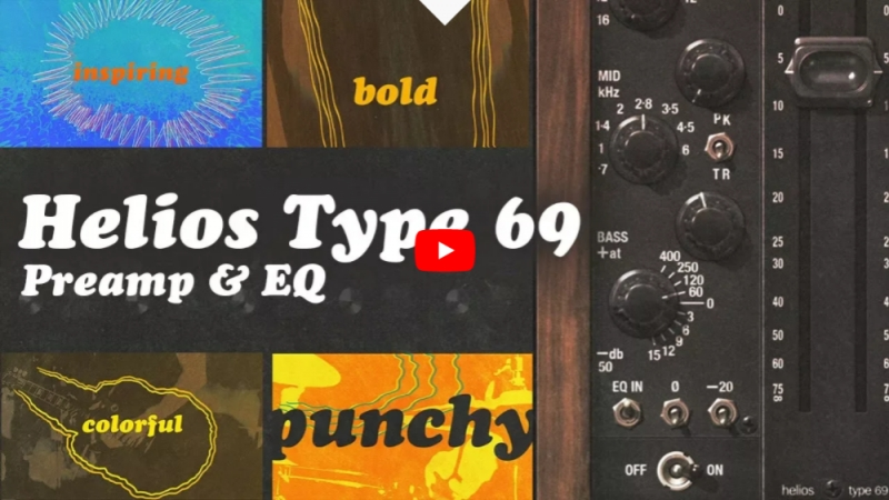 UAD Helios Type 69 Preamp EQ Collection Plug-In