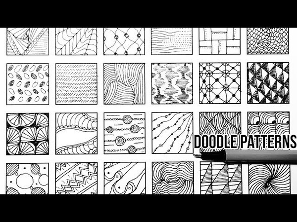 24 DOODLE PATTERNS / PART 5 / Speed Up Drawing, Doodle Art