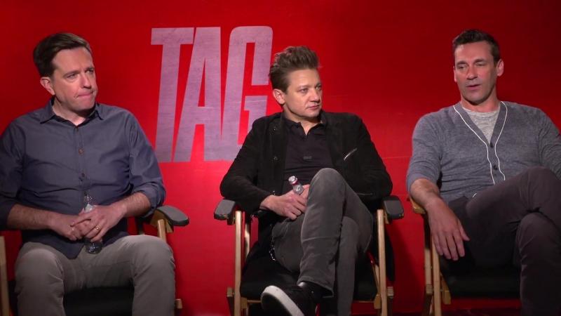 Jeremy Renner, Ed Helms Jon Hamm TAG Interviews! (2018) JoBlo.com Exclusive