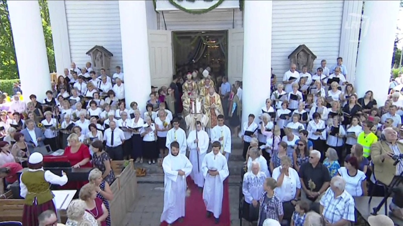 Pivašiūnuose švenčiami Švč Mergelės Marijos Ėmimo į dangų Žolinės atlaidai 2015 HD
