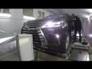 Увеличение мощности Lexus LX 450d замер мощности на диностенде