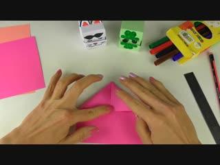 Оригами из бумаги _ Кубик меняющий лицо _ Поделки для детей