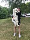 Малыш Крис со своей любимой хозяйкой ️