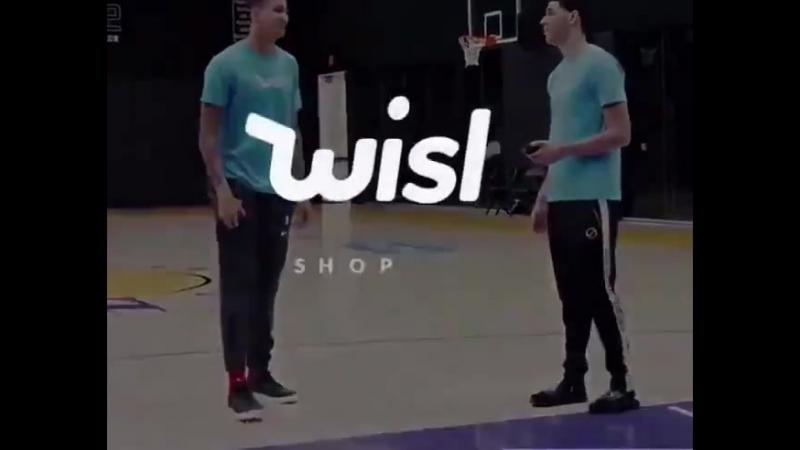 Лонзо Болл и Кайл Кузма снялись в рекламе Wish.